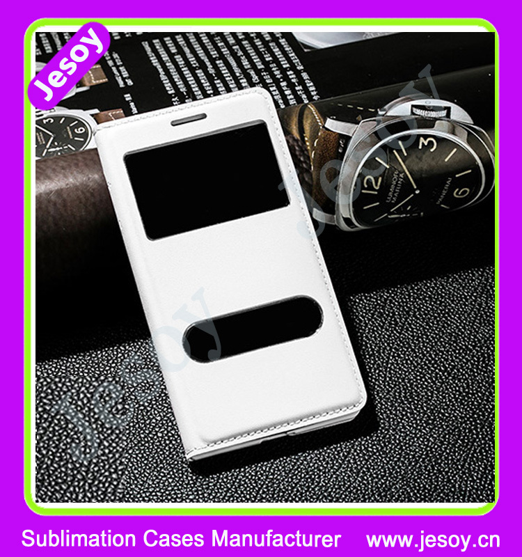 JESOY High Quality Flip Leather Mobile Phone Case Cover For iPhone Samsung Galaxy S3 S4 S5 S6