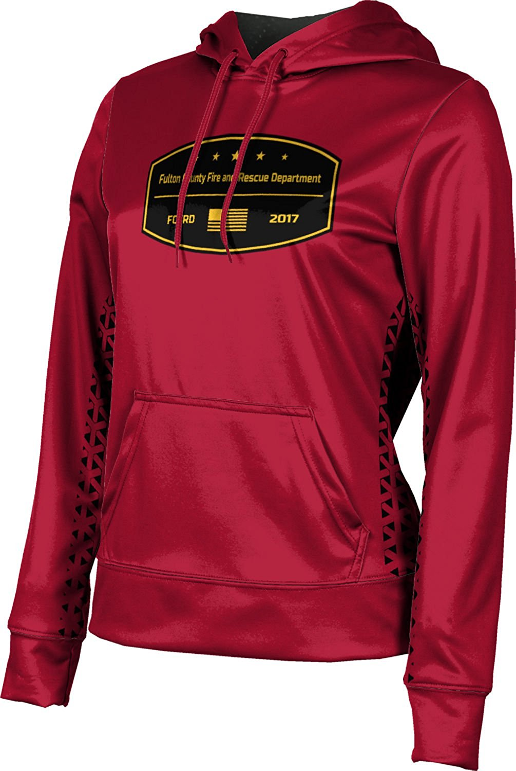 Girls' Fulton County Fire and Rescue Department Fire Department Geometric Hoodie Sweatshirt