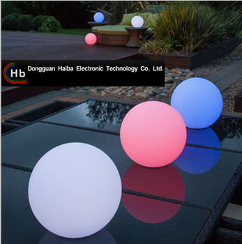 Color Changing Led Christmas Ball Plastic Ball Multi Color Outdoor ...