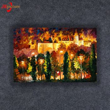 Abstract Customized without frame canvas print pictures wall art canvas paintings with led  light