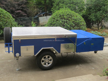 aluminum top,waterproof cooking trailer customized blue color camper trailer
