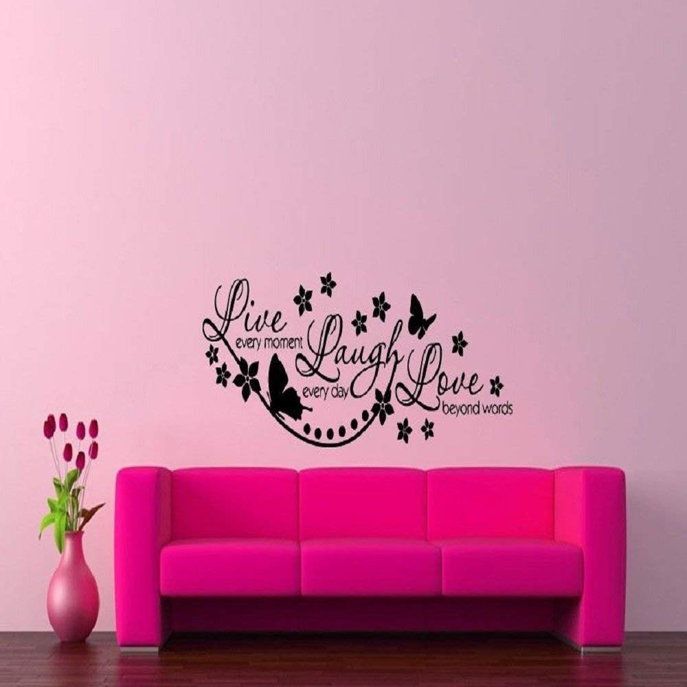 Wall Vinyl Sticker Decals Mural Design Art Live Laugh Love Every Day Quote