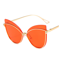 2019 fashion Butterfly sunglasses women vintage Mirror sun glasses men Sun glasses oversized outdoor Fashion shades for women