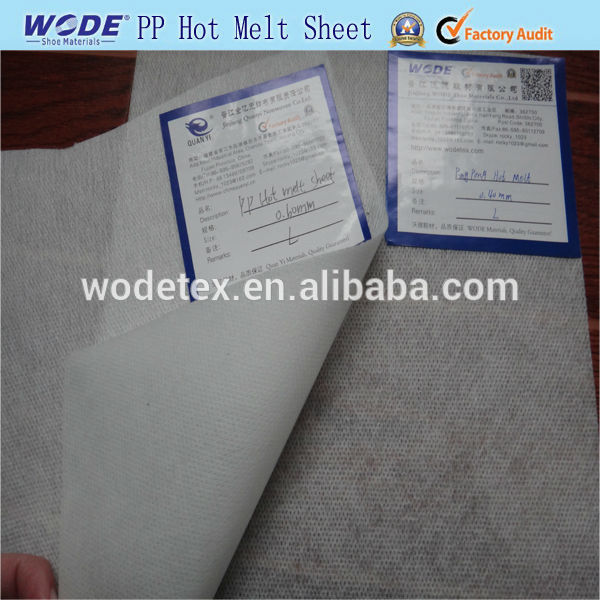 Ping Pong hot melt sheet,shoe material needle punched fabric