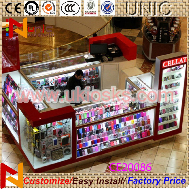 Optical Shop Interior Design For Mobile Accessories Kiosk Cell Phone