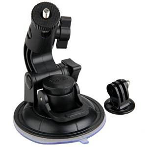 "GPS Holder - TOOGOO(R)Suction Cup Mount for GoPro Hero 1/2/3/3 + +1/4"" Tripod Mount Adapter (black)"