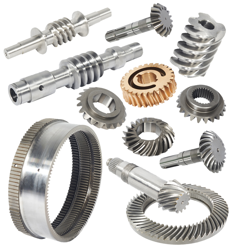 Penempaan Baja Helical Bevel Ring Gear Herringbone Gear