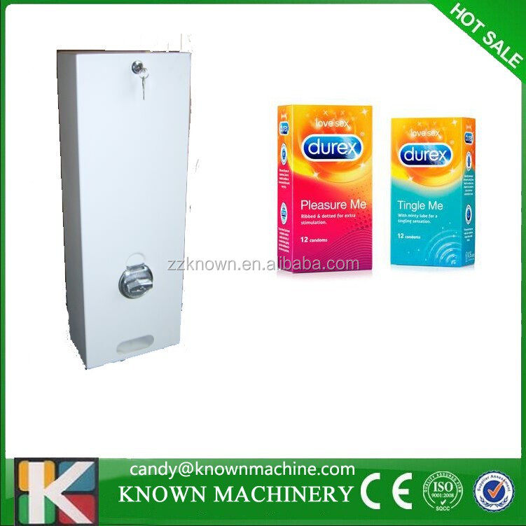 Selling box condoms Single mechanical condom vending machine low price