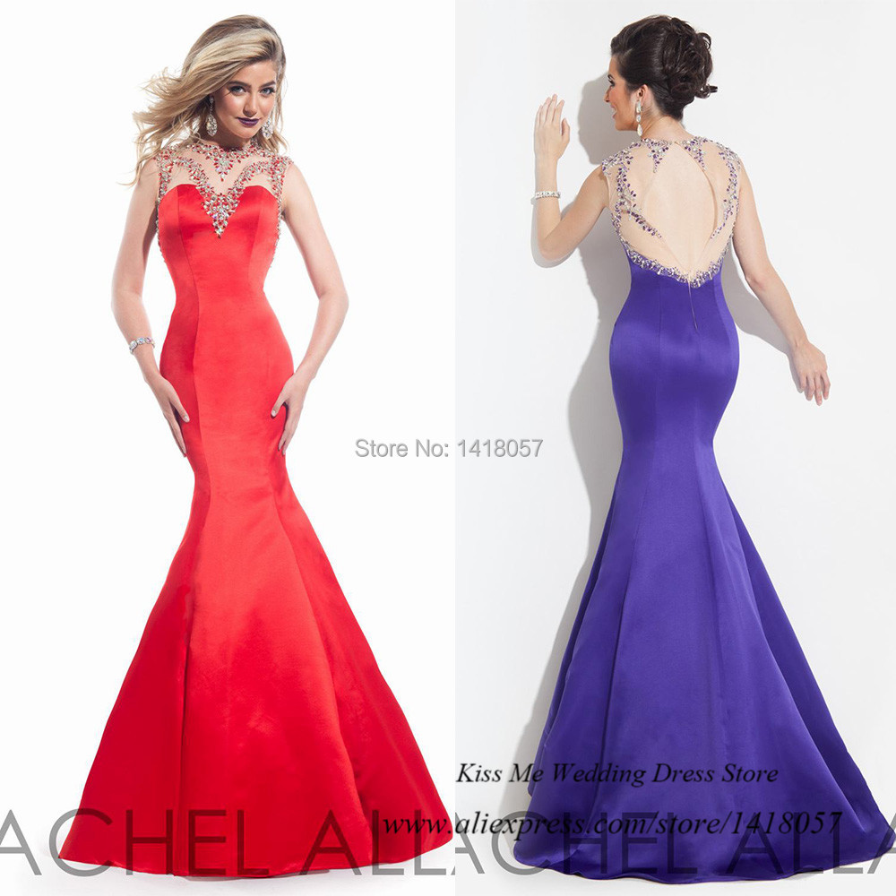 Get Quotations · Red Purple Fashion Crystals Mermaid Prom Dress Backless 2015  Long Special Occasion Dresses Evening Gowns Vestidos 174d75e2c752