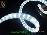 LED rainbow rope light flat three wire rope lighting for outdoor decoration