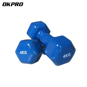 Fitness Hex Dumbbell Woman Used Color Vinyl Dumbbell for sale