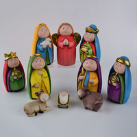 Hot sale terra-cotta nativity religious pendant christmas present