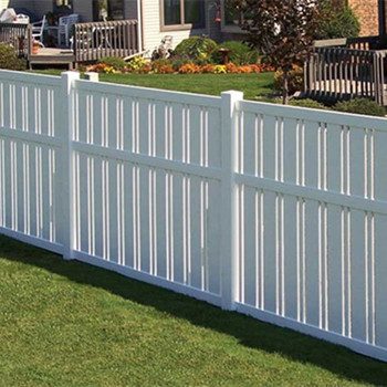 Pvc White Picket Fence Plastic Fencing For Garden With Uv