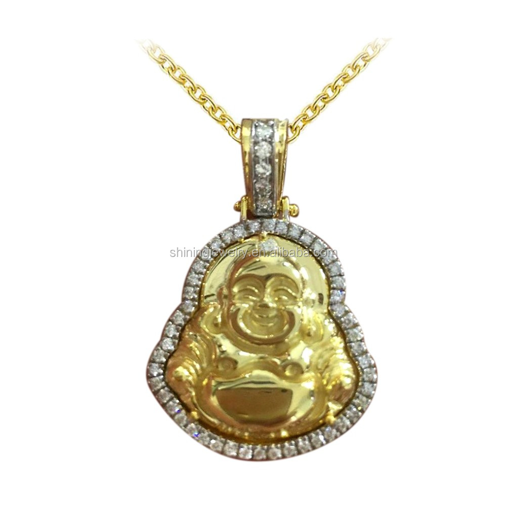 out size jewelrysmall diamond iced white chain wholesale pendant plated lab micro jesus hop gold hip mini simulated crystal product necklace