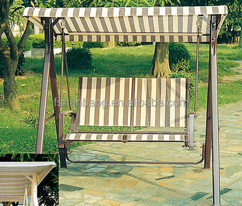 Modern Knock Down Patio Garden Outdoor Balcony Backyard Double Seat Sling Hanging  Swing Chair With Canopy