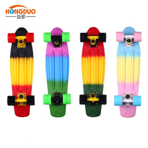 3 colors deck skateboard wheels and electric skateboard
