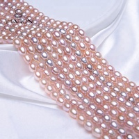 6-7-mm Rice Shape Natural Fresh Water Lavender Pearl Strand Loose Beads Wholesale Jewelry