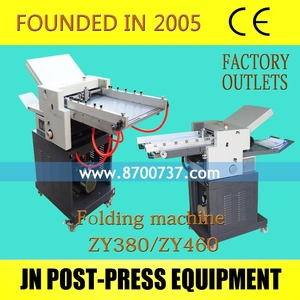 automatic paper folding machine JN-ZY380 best factory price