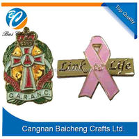 2016 Custom soft enamel awareness ribbon pin