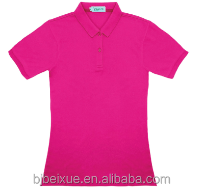 2015 new style casual 200g polyester polo t shirt blank on stock