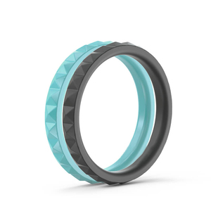 Fashionable Medical Grade Hot Wife Rainbow Silicone Wedding Ring