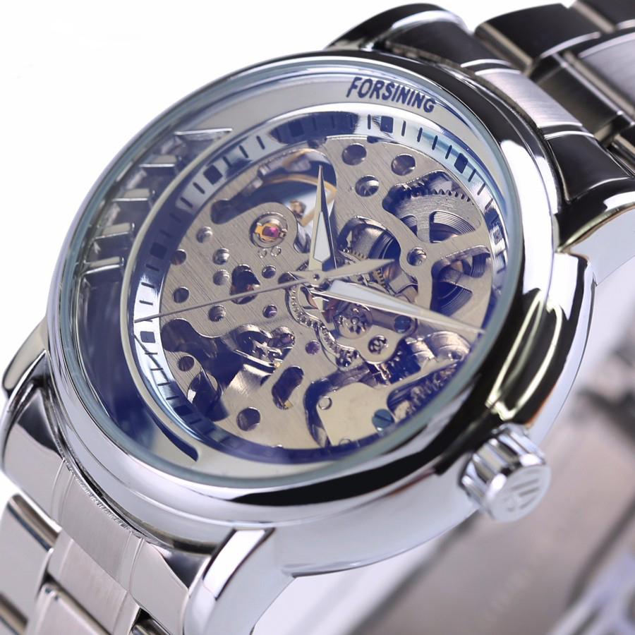 Mens Watches Top Brand Luxury Automatic Mechanical Skeleton Watch Clock 2016 3D New Series Hollow Golden Skeleton Wristwatches