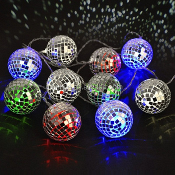 Color Changing Party Disco Ball String Lights For Holiday