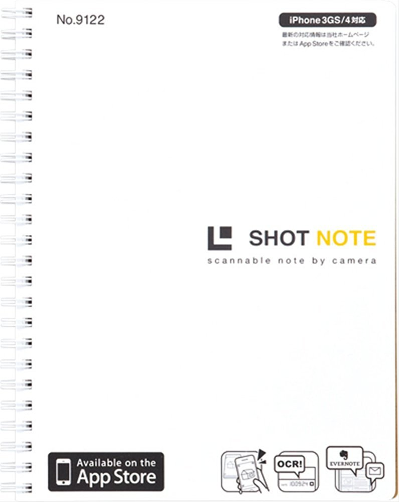 Jim King shot Notes (twin ring type) White L size 9122 white (japan import)