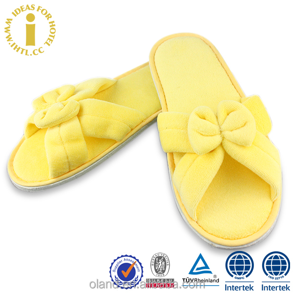 Hotel Bowknot Style Nude Children Fancy Slippers