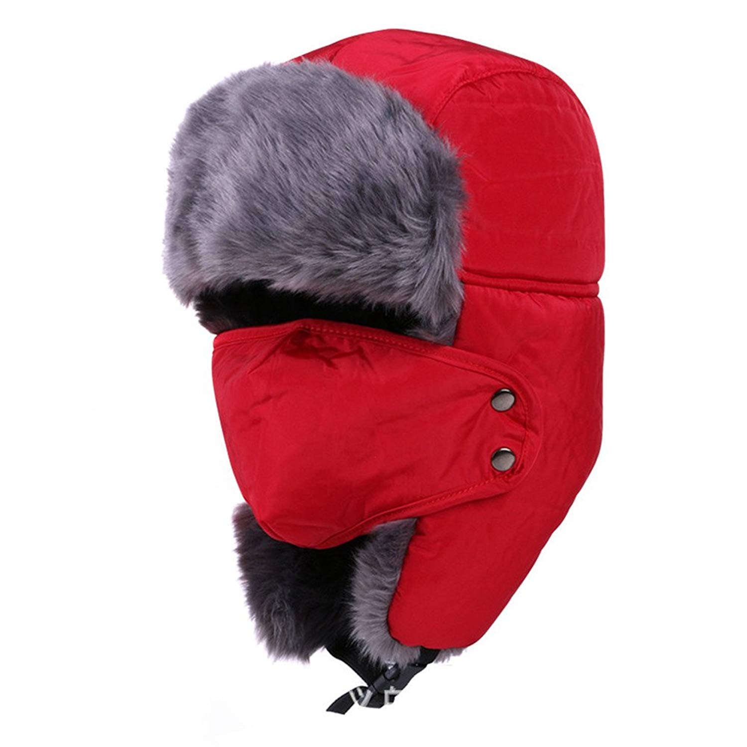 b45605a88d1 Get Quotations · Unisex Winter Trooper Trapper Hats Ushanka Russian Hats Cap  Hunting Ear Flap Chin Strap Hat