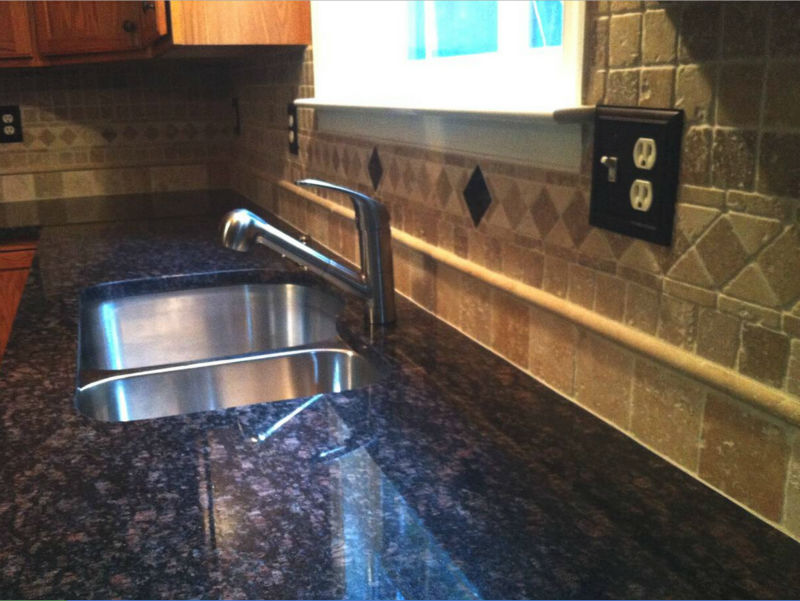 Polished And Eased China Tropic Brown Countertop With 8-inch ...