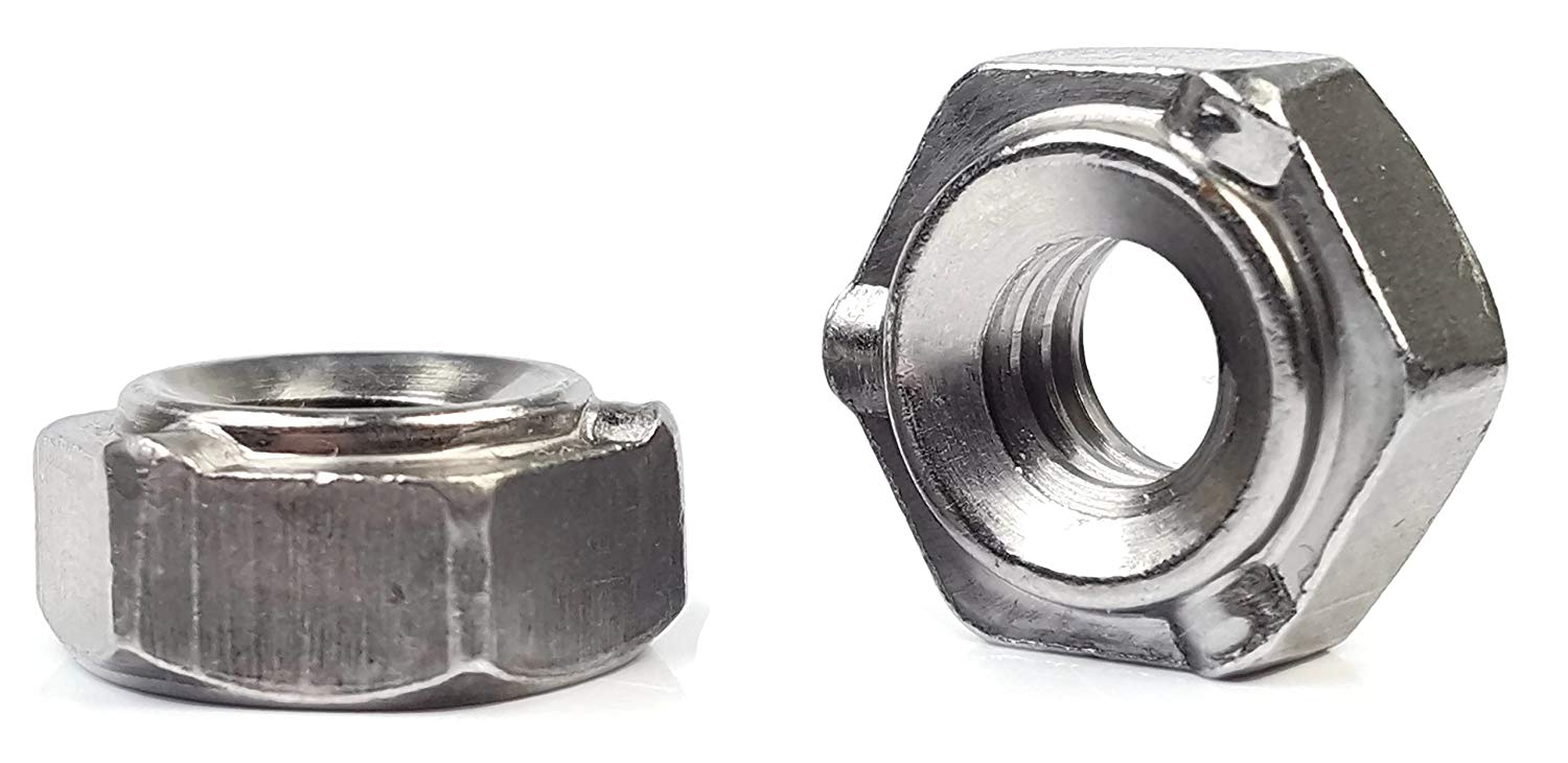 Plain Finish Center Hole Design Low Carbon Steel Without Projections 1//4-20 Spot Weld Nuts Quantity: 1000