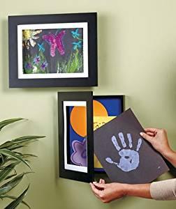 """Set of 2 Easy Change Artwork Frame - Black - 1 Frame Fits 9"""" x 12"""" Artwork. F..."""