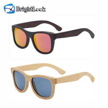 Wholesale custom engraved logo true color zebra bamboo sunglasses wood
