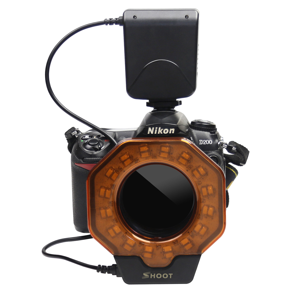 Shoot Macro Led Ring Light Flash Sdlite With 8 Adapter Rings For Canon Nikon Olympus Pentax