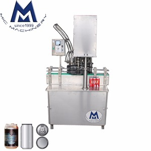 High precision one head automatic tin can sealing machine / aluminum beer can seaming machine