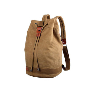 eco durable canvas drawstring laptop rucksack backpack fashion wholesale outdoor backpack