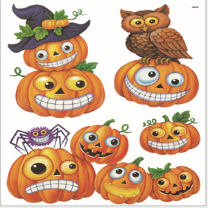 Halloween Pumpkin Cartoon Sticker Wall Sticker Glow In The Dark Static Window Sticker