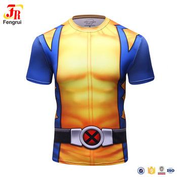 Camisa Ciclo personalizado Fashional Marvel Superhero Superman T Camisas de  Compressão de Secagem rápida com Sublimação 8704089bb3a30