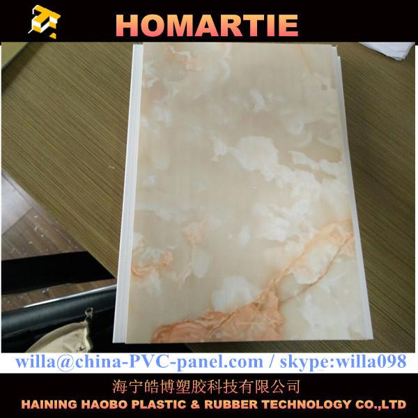 moldeo marco de diseño de mármol tablilla plástica PVC del material ...