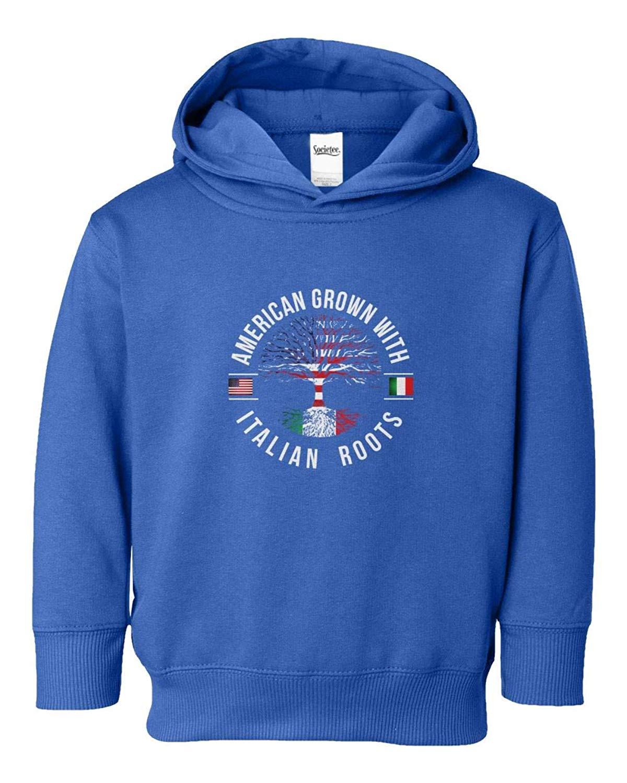 Societee American Grown with Italian Roots Youth & Toddler Hoodie Sweatshirt