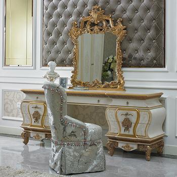 Yb67 French Baroque Design Bedroom Furniture Antique White Bedroom  Furniture Wood Carved Makeup Dresser Table With Mirror - Buy Baroque Design  Dresser ...