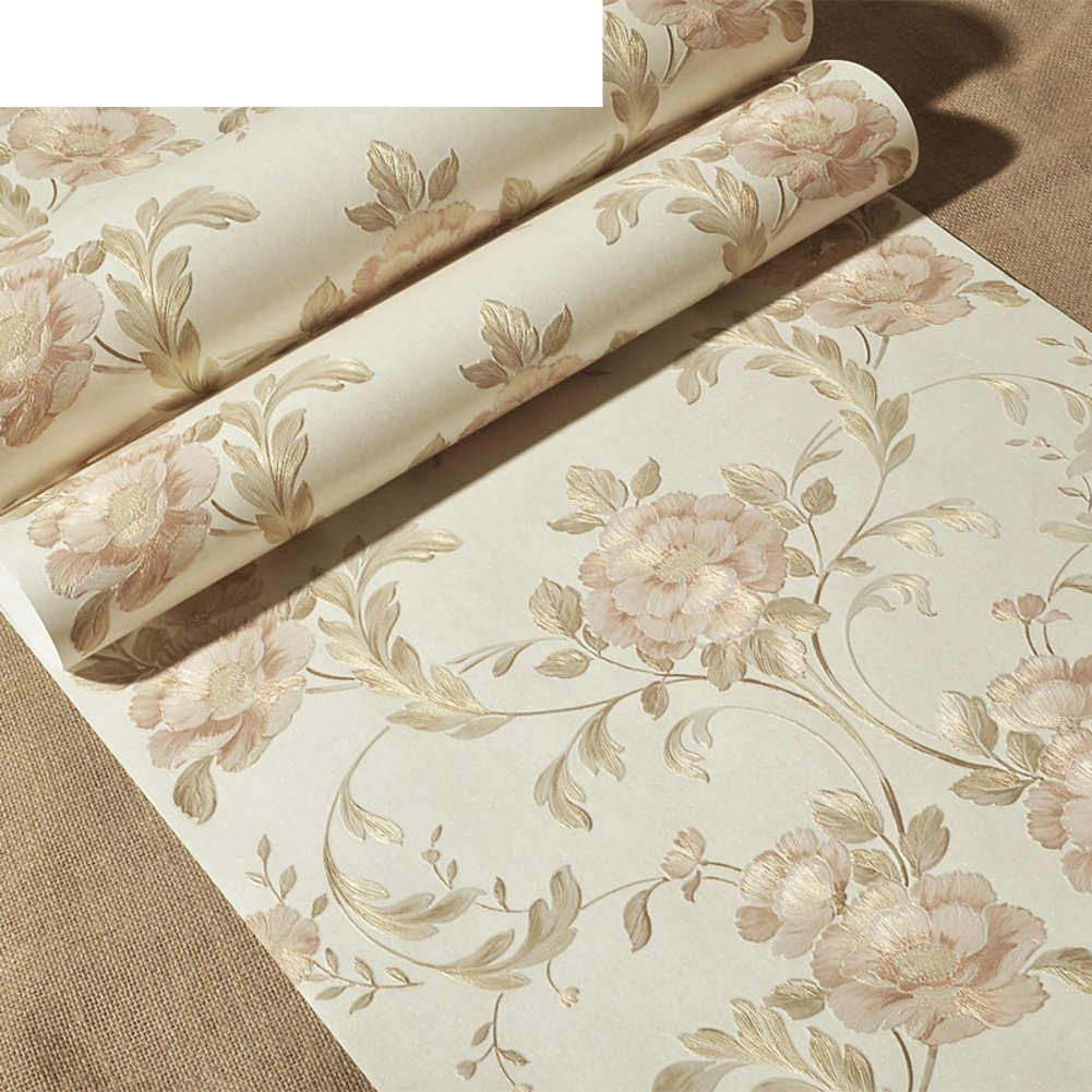 DXG&FX 3D-dimensional wallpapers Striped wallpaper on living room walls Silk non-woven wallpaper bedroom garden wallpaper-A