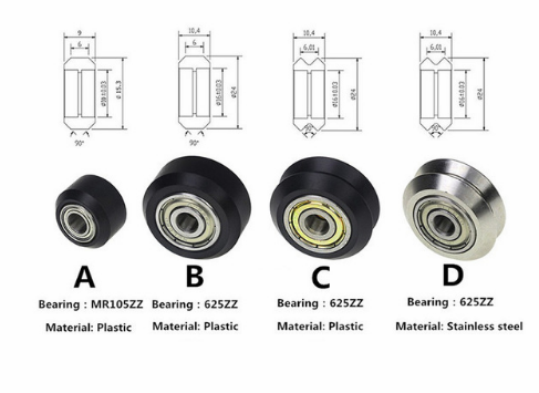 Details about  /with 625zz Bearing Printer Accessories 5mm Caliber Pulley for Printer