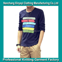 2015 Men's rainbow print t shirt with causual style from alibaba China