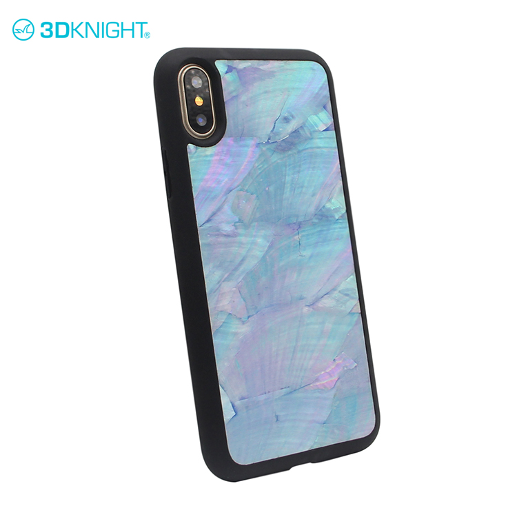 High Quality  Multi-Color Real Seashell Phone Case ,Mobile Cell Phone Cover For Iphone X
