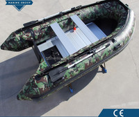 Inflatable Boat With Electric Motor with Stainless Steel Guard Bar, Inflatable Rubber Boat/Cheap Inflatable Boat