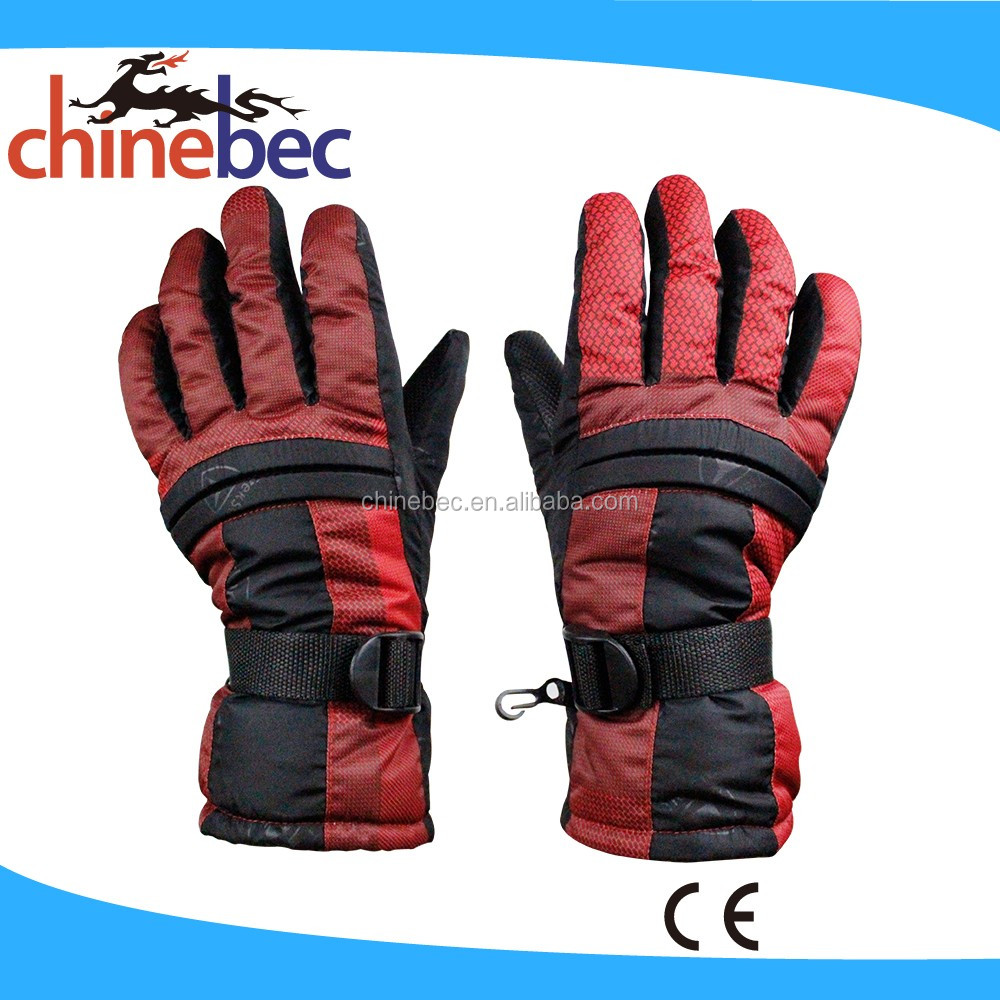 Cheap Keep Warm Anti Slip Knitted Cotton Winter Ski Gloves