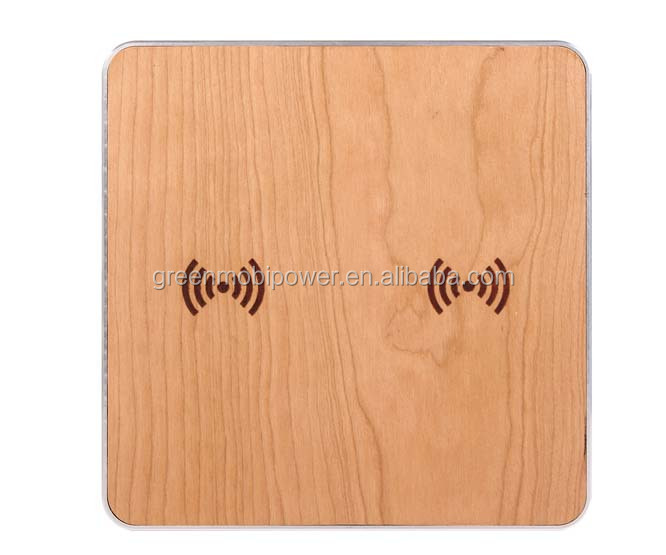 Double charging wooden wireless transmitter /qi wireless charger