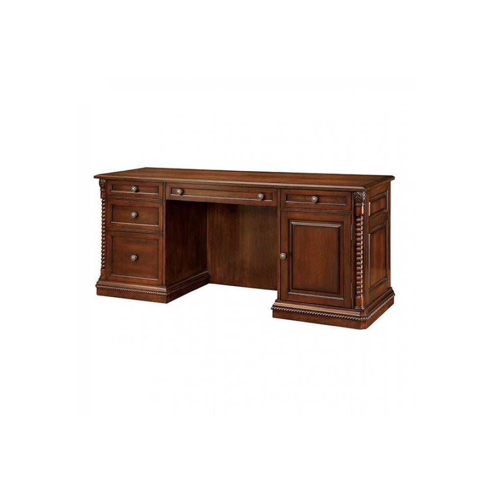 FA Furnishing Traditional Home Office Landor Computer Desk in Dark Oak Wood - Home Office